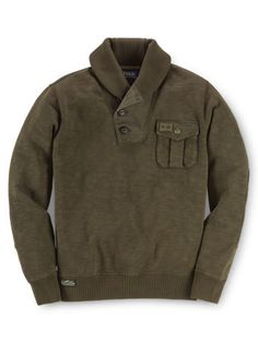 Shawl-Collar Fleece Sweatshirt - Boys 8-20 Tees & Sweatshirts - RalphLauren.com