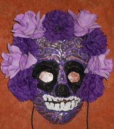Day of the Dead/Dia de los Muertos Mask with by AnthonySaldivar, $114.99