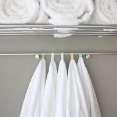 DIY Color Coded Towel loops