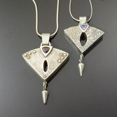 new metal clay jewelry images - Google Search Mixed Metal Jewelry, Metal Clay Jewelry, Wire Jewelry, Jewelry Crafts, Jewelry Art, Beaded Jewelry, Silver Jewelry, Handmade Jewelry, Fashion Jewelry
