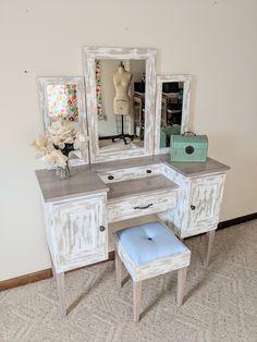 This item is unavailable Vanity Seat, Makeup Table Vanity, Makeup Tables, Modern Bedroom, Master Bedroom, Bedroom Decor, Bedroom Classic, Bedroom Ideas, Furniture Vanity