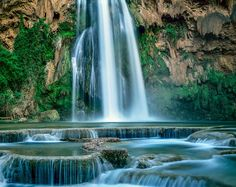 Havasu Falls and travertine formations, Havasupai Indian Reservation, Grand Canyon, Arizona 1992 by William Neill on 500px