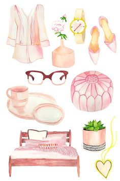 Think pink, if you want that quelque chose! I tried something different and painted the images...