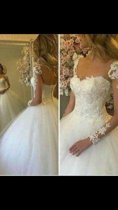 Wedding dresses,ball gown wedding dress,lace wedding dresses,sexy wedding dresses, backless wedding dress, wedding dresses tulle #2018 #lace #tulle #weddinggown #weddingdress #fashion #fullsleeve