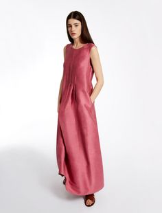 Linen and silk dress, pink - Weekend Max Mara Product page