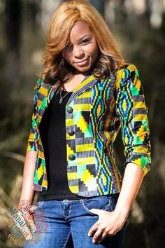 Latest collection of the best and trendy ankara jackets and ankara blazers styles there are out there. DO you love ankara blazers and jackets styles. African Print Dresses, African Dresses For Women, African Attire, African Wear, African Fashion Dresses, African Women, African Prints, African Style, African Inspired Fashion
