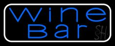 Blue Wine Bar Neon Sign 13 Tall x 32 Wide x 3 Deep, is 100% Handcrafted with Real Glass Tube Neon Sign. !!! Made in USA !!!  Colors on the sign are Blue and White. Blue Wine Bar Neon Sign is high impact, eye catching, real glass tube neon sign. This characteristic glow can attract customers like nothing else, virtually burning your identity into the minds of potential and future customers. Blue Wine Bar Neon Sign can be left on 24 hours a day, seven days a week, 365 days a year...