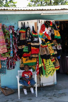 Jamaica - colorful goods for sale.                Had two fantastic holidays here ❤