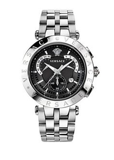 348a0198ed3 Versace - V Race 42mm Black Deal Relógios De Luxo