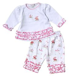 Buy pima cotton infant pant sets, infant girl playwear, infant girl, and get free shipping at Best Dressed Tot