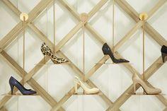 Shoe display at Arnotts Shoe Garden. Store design by Shed, Dublin. #shoe #display
