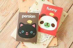 cute animal cartoon notebook