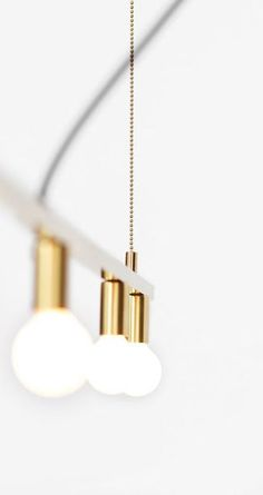 DOT LINE SUSPENSION LAMP in brass by Lambert & Fils | DSHOP http://shop.thedpages.com/products/dot-line-suspension-lamp: