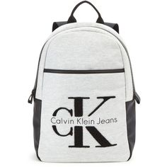 Calvin Klein Re-Issue Backpack (800 HRK) ❤ liked on Polyvore featuring bags, backpacks, calvin klein bags, knapsack bag, cotton bags, calvin klein and shoulder strap bags