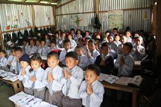This is an example of a classroom in Nepal. the sizes vary depending on wihch part of Nepal you are