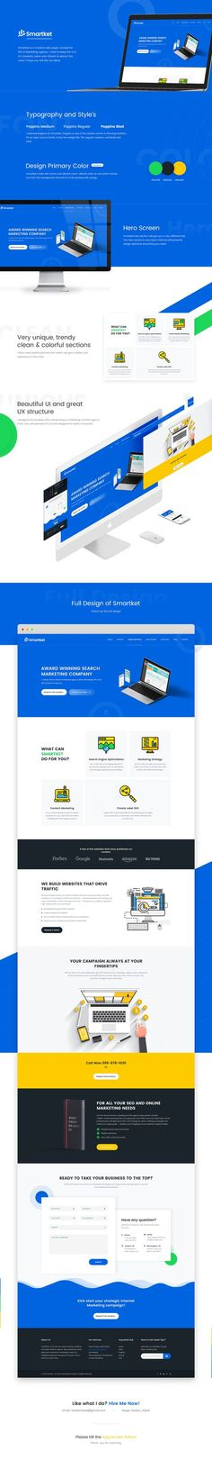 Smartket is a creative web page concept for SEO & Marketing Agency. I tried to keep the UI & UX constant, clean and vibrant to attract the users. I hope you will like my ideas.: