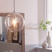 Suspension collection Manta Matière : Structure : en acier Abat jour : en verre Dimensions : Hauteur : 130 cm Ampoule recommandée (non fournie) : ampoule ...