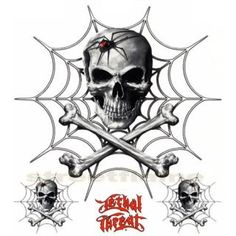 """black widow  wallpaper probably with a fleur de lys and a triskele in The AWESOME SKULLS """" N """" STUFF Club"""