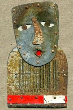 """Judith Hoyt makes amazing figures with """"found"""" metal."""