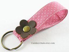 MINI Fabric Key chain Fabric Wristlet Key Fob by CuteKeyChain, $2.90