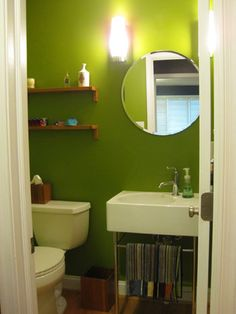 House Crashing: Gorgeous U0026 Green Digs. Lime Green BathroomsBathroom ...