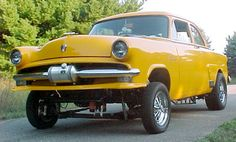 Yellow Ford Gasser..Re-pin...Brought to you by #CarInsurance at #HouseofInsurance in Eugene, Oregon
