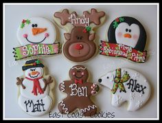 Personalized Christmas Cookies 2011 by East Coast Cookies, via Flickr