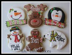 Personalized Christmas Cookies 2011 by East Coast Cookies, via Flickr