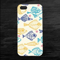 Cute Cartoon Fish iPhone 4 and 5 Case by theminifab on Etsy, $11.00