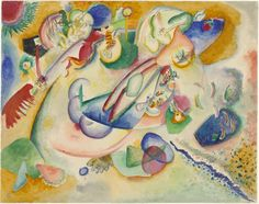 "Vasily Kandinsky Improvisation (c. 1914) Medium Watercolor and pencil on paper Dimensions 14 x 17 5/8"" (35.6 x 44.8 cm)"