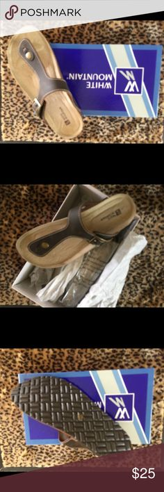 Birkenstock style White Mountain sandals Brown leather Birkenstock style sandals - new in box White Mountain Shoes Sandals