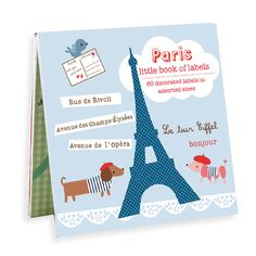 Paris themed Book of Labels from Galison. #Paris #France #Cavallini #design #stationery
