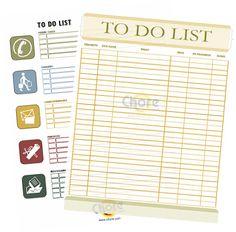 Household Chore Charts Free Printable | Chore.com: chores made easy