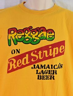 e27856ad6 Reggae On RED STRIPE Sleeveless T-Shirt Size XX-Large Jamaica s Lager Beer  2XL