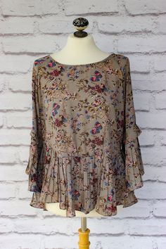 Fall Flutter Blouse - Shop Boho Bus