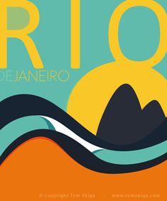 Rio de Janeiro Surf Art, by Brazilian artist and illustrator Tom Veiga, via Club… Travel Illustration, Graphic Illustration, Travel Images, Travel Photos, Samba, Vintage Surf, Travel Tours, Travel Guide, Surf Art