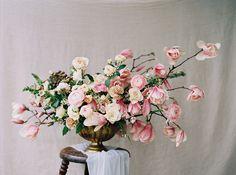 Soft Pink Spring Wedding Inspiration #magnolia