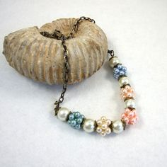 Necklace, Pearly Beaded Beads