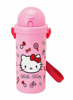 Amazon.com: Hello Kitty Pop-Up Straw Bottle (Cosmetics): Sports & Outdoors
