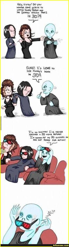Voldemort, Snape and Bellatrix --- I sure love me some Harry Potter jokes :) Memes Humor, Funny Memes, Hilarious, Funny Quotes, Hogwarts, Harry Potter Jokes, Harry Potter Fandom, Harry Potter Fan Art, Harry Potter Nails