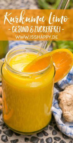 Limonade selber machen - mit Ingwer und Kurkuma. Gesund, zuckerfrei und nährstoffreich – schnell und einfach mit nur wenigen Zutaten! #limoselbermachen #zuckerfreielimo #limozuckerfrei #kurkumalimo #gesundelimo #limonade #gesunderezepte#gesundeernährung Entdeckt von Vegalife Rocks: www.vegaliferocks.de✨ I Vleischlos glücklich, fit & Gesund✨ I Follow me for more inspiration @vegaliferocks #vegan #veganleben #veganessen Anthony William, Snacks Für Party, Raw Cacao, Orange Crush, Fabulous Foods, Sweet Life, Easy Peasy, Superfoods, Smoothies