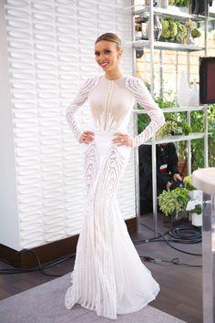 Basil Soda Haute Couture, wedding, gown, dress, evening, long sleeve, high neck, mermaid
