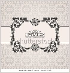 Abstract leaf background, exclusive, creative ornament, ornate, baroque, luxury, vintage, royal cream frame, banner, floral invitation card, antique style pattern template for design
