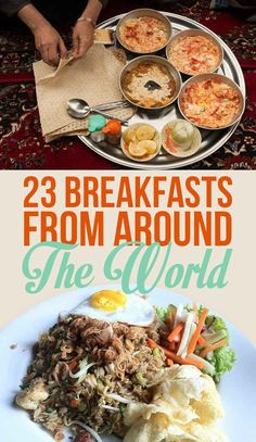 15 World Cuisine Recipes - International Recipes 15 World Cuisine Recipes - International Recipes with selections from Africa, the Middle East, South Asia, Europe, the Philippines & Mexico. Breakfast Around The World, Around The World Food, Breakfast Time, Breakfast Recipes, Country Breakfast, Brunch Outfit, World Recipes, International Recipes, The Best