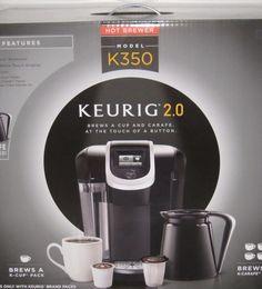 Keurig 2 0 Model K350 K Cup Brewing System Blk Touch Display 9 Brew Sizes Carafe | eBay