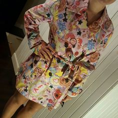 Rare trench coat Multicolored and print trench coat.  NWT Fiorucci Jackets & Coats Trench Coats