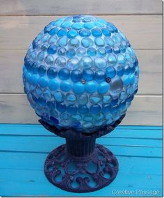 Marble Gazing Ball  http://ellenscreativepassage.blogspot.com/2012/09/marble-gazing-ball.html#