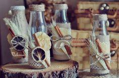 Купить Набор бутылочек - ваз - бежевый, молочный, рустик, рустикальный стиль, рустикальная свадьба, рустикальный