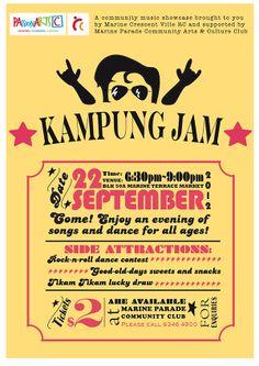 Typography Event Poster by Sarah Zainal Abidin, via Behance