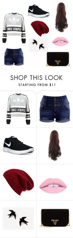 """""""Untitled #12"""" by jinxallison on Polyvore featuring adidas Originals, NIKE, Halogen and Prada"""